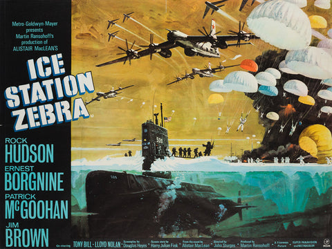 Ice Station Zebra 1968 UK Quad original film movie poster