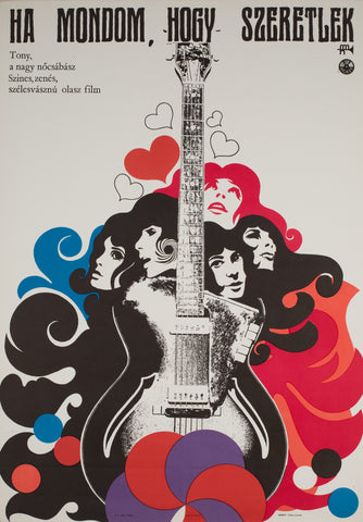Quando Dico che ti Amo / If I Say I Love You 1968 Hungarian Film Poster