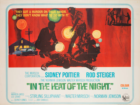 In the Heat of the Night 1967 UK Quad Film Poster