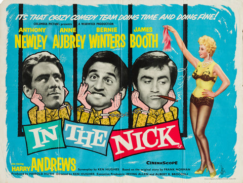 In The Nick 1960 original vintage UK quad film movie poster
