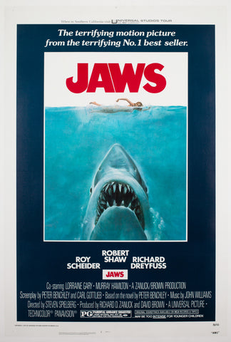 Jaws 1975 US 1 Sheet Film Poster, Kastel