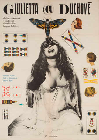 Juliet of the Spirit 1969 Czech A1 Film Poster, Grygar