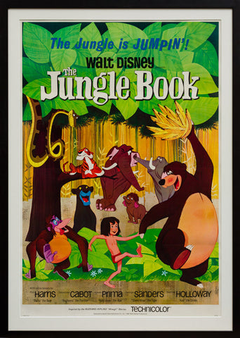 The Jungle Book 1967 original vintage US 1 sheet film movie poster
