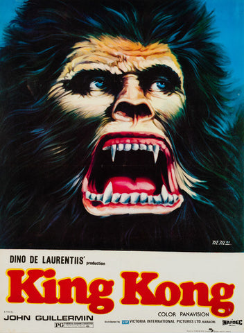 Original 1981 King Kong Pakistani film movie poster