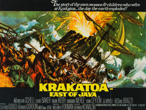 Krakatoa East of Java 1969 original vintage UK Quad film movie poster Frank McCarthy