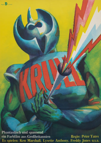 Krull 1985 East German Film Poster, Wengler