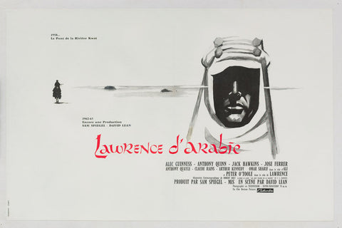 Lawrence of Arabia 1962 original French Affiche Petite Advance film movie poster