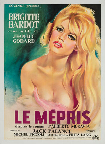 Le Mepris Contempt 1963 original vintage French Affiche film movie poster