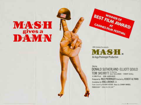 MASH 1972 original vintage UK quad film movie poster