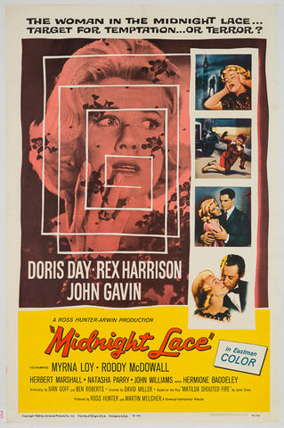 Midnight Lace 1960 original vintage US 1 sheet film movie poster Doris Day