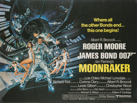 Moonraker 1979 Original UK Quad Film Movie Poster