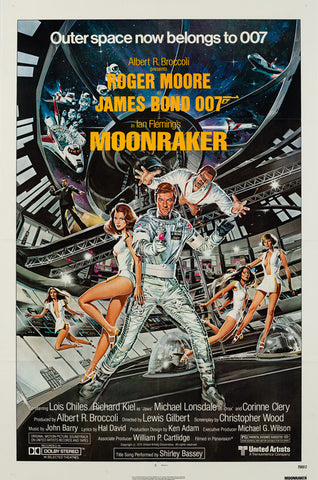 Original 1979 Moonraker US 1 Sheet film movie poster