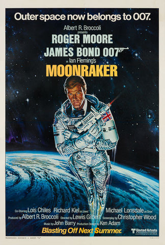 Moonraker 1979 original vintage US 1 sheet advance style A film movie poster James Bond