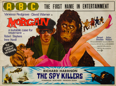 Morgan 1966 original vintage UK quad film movie poster