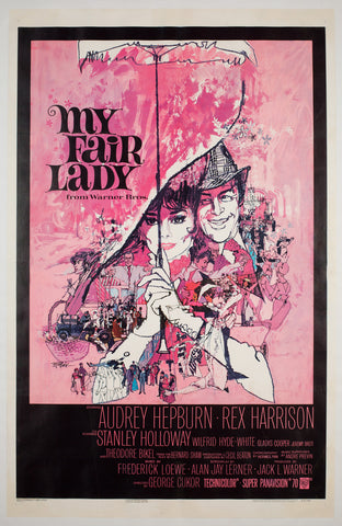 My Fair Lady 1964 US 1 Sheet Film Poster, Peak