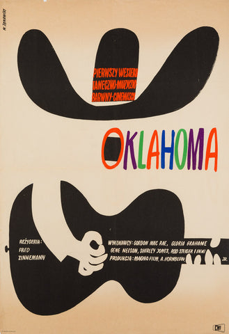 Oklahoma 1964 Polish A1 original film movie poster