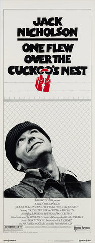 One Flew Over the Cuckoo's Nest 1975 US Insert film poster