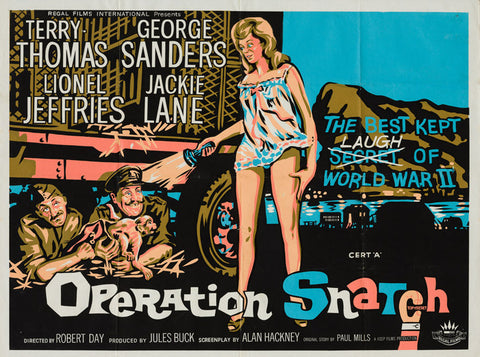Operation Snatch 1962 original vintage UK quad film movie poster starring Terry-Thomas