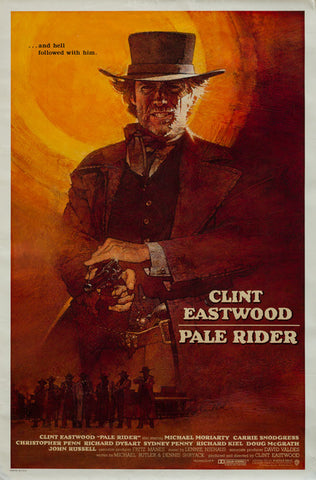 Pale Rider 1985 original vintage rare International 1 sheet film movie poster Clint Eastwood