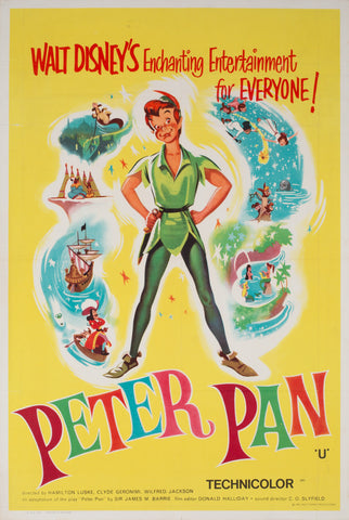 Peter Pan R1965 UK Double Crown Film Poster