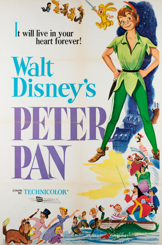 Peter Pan R1969 US 1 Sheet Film Movie Poster Disney
