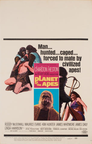 Planet of the Apes 1968 US Window Card Film Poster