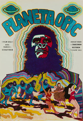 Planet of the Apes 1970 Czech A3 Film Poster, Hlavatý