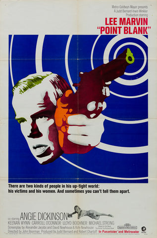 Point Blank 1967 original vintage US 1 sheet film movie poster