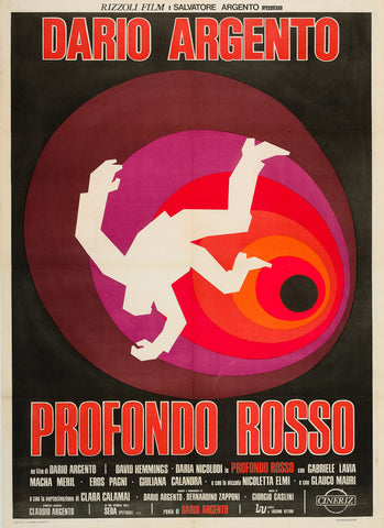 Profondo Rosso 1976 original Italian film movie poster