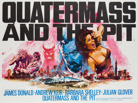 Quatermass and the Pit 1967 UK Quad film movie poster