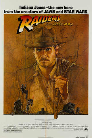 Raiders of the Lost Ark 1981 US 1 Sheet original film movie poster