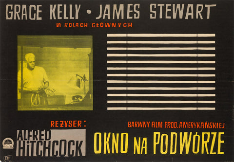Rear Window 1958 Polish A1 original film movie poster