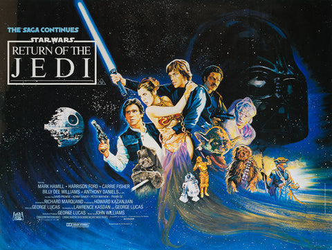 The Return of the Jedi 1983 original UK Quad film movie poster