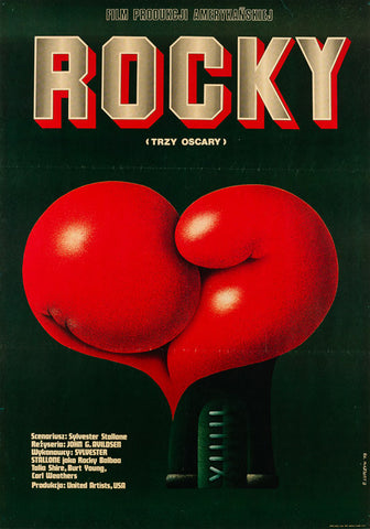 Rocky 1978 original Polish film movie poster
