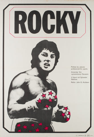 Rocky 1980 Czech A1 Film Movie Poster