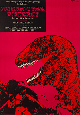 Original 1967 Rodan! The Flying Monster! Polish film movie poster