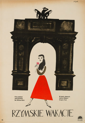 Original 1959 Roman Holiday Polish film movie poster