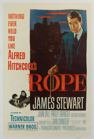 Rope 1948 US 1 Sheet original film movie poster Hitchcock