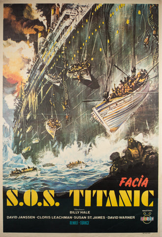S.O.S. Titanic 1979 Turkish 1 Sheet Film Poster
