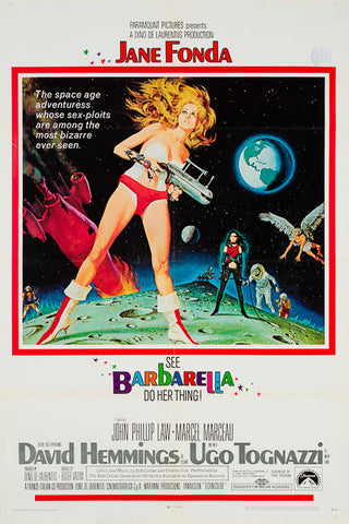 Barbarella 1968 original vintage US 1 sheet film movie poster