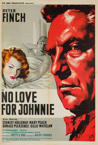 No Love For Johnnie 1960 original vintage Italian 1 sheet film movie poster