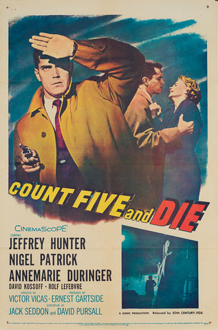 Count Five and Die 1957 original vintage US 1 sheet film movie poster