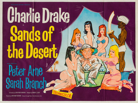 Sands of the Desert 1960 original vintage UK quad film movie poster - Charlie Drake