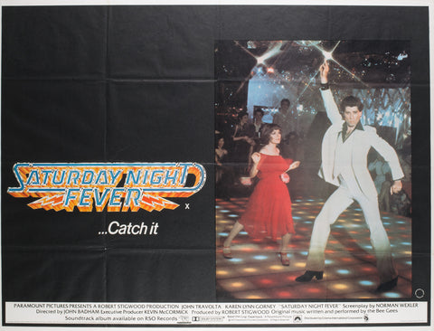 Saturday Night Fever 1977 UK Quad Film Poster