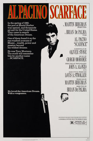 Original 1983 Scarface US 1 Sheet film movie posters
