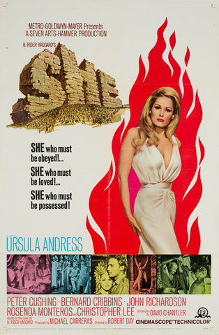 She 1965 original vintage US 1 sheet film movie poster Hammer