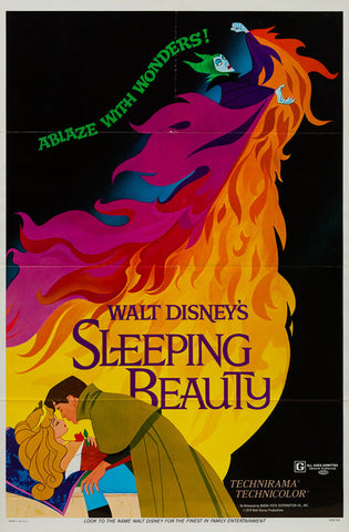 Sleeping Beauty 1959 R1970 original Disney US 1 sheet film movie poster
