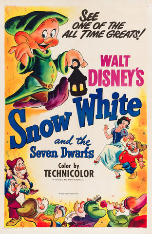 Snow White R1951 US Film Poster