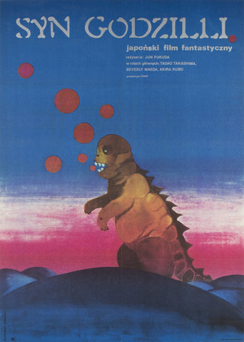 Son of Godzilla 1974 original Polish film movie poster