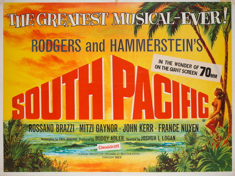 South Pacific R1960s UK Quad Film Poster, Chantrell